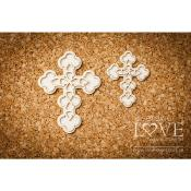 Chipboard - Crosses - Baby lily