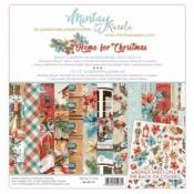 Kit de Papeles Scrap 30x30 Mintay By Karola Home for Christmas
