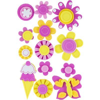 89d7bf8c477 Figuras Goma EVA Adhesiva 3D Helados y Flores