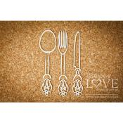 Chipboard - Large decorative cutlery - Kitchen Time