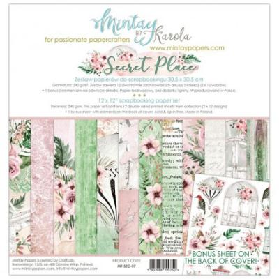 Kit de Papeles Scrap 30x30 Mintay By Karola Secret Palace