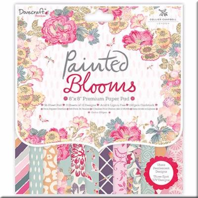 Papeles Scrapbooking Painted Blooms 20x20