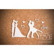 Chipboard - Two couples in love