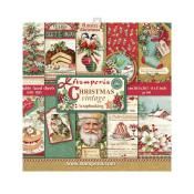 kit de Papeles Scrap  Stamperia 20.3X20.3  Christmas Vintage