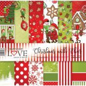 Set de papel 30x30 - Laserowe - Christmas with elves
