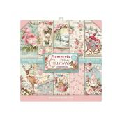 kit de Papeles Scrap  Stamperia 20.3X20.3  Pink Christmas