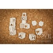 Chipboard - Blocks - Vintage Baby